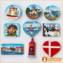European Country Souvenirs Fridge Magnets Polyresin