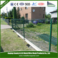 curve powder coating Security garden bed fence
