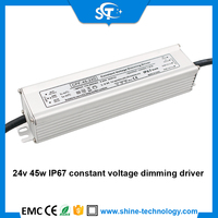 45w 0/1-10v/pwm 3 in 1 ip67 constant voltage dimming driver with ce rohs for led display led power supply