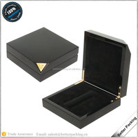 JBW384 High Glossy Luxury Black Bottle Wooden Perfume gift Packaging box