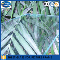 1.5-3.7mm clear sheet glass/building window non-glare picture