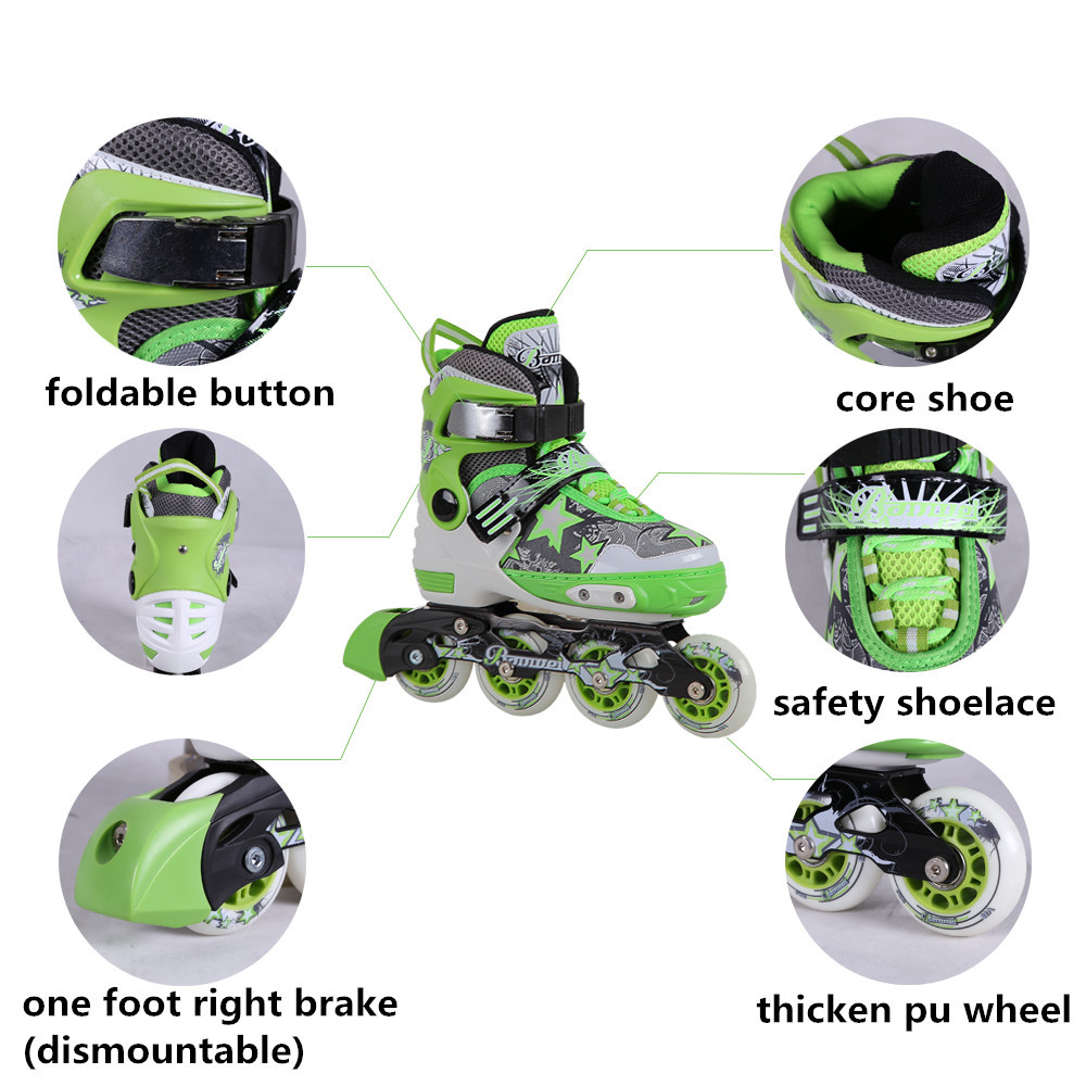 2016 new style best sale pu wheels Banwei BW-160 aggressive inline skates