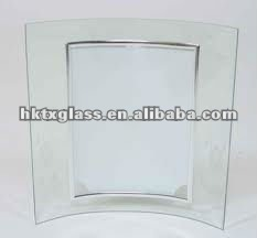 clear glass photo frame