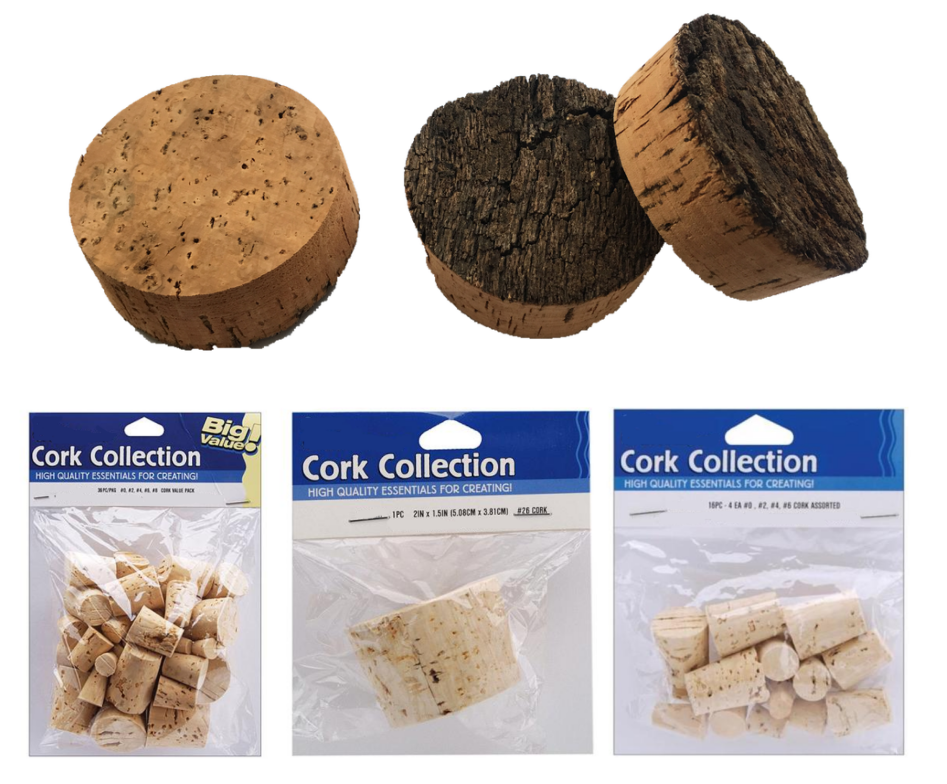 t shape cork stopper