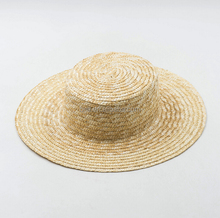 wedding back to school gift wide brim straw boater hat custom blank wheat straw hat