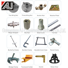 Various type wall scaffolding formwork accessories