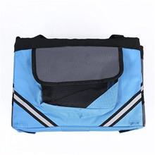 Wholesale promotional custom blue pet oxford bicycle bag