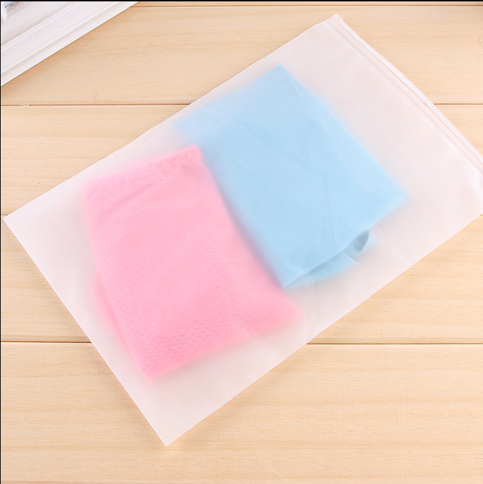 Clothing frosted material plastic zip lock bag for storage clothing shoes washing tools