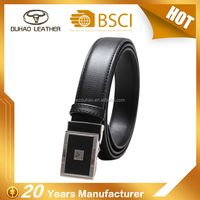 Genuine cow leather alloy automatic buckle business black man belt