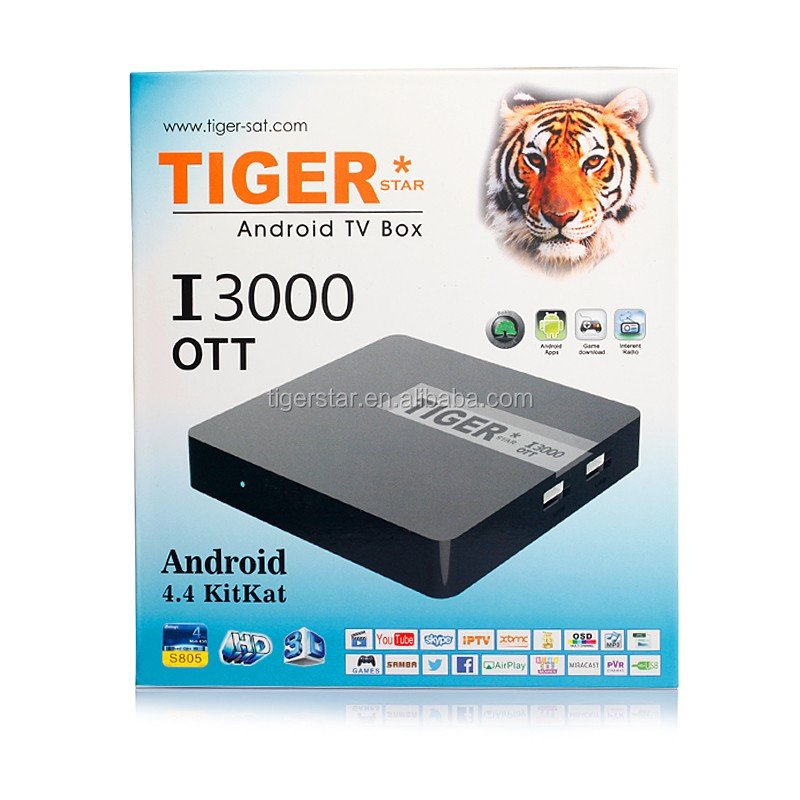 Tiger I3000 OTT android set-top box with 1 year IPTV