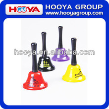 75*130mm Colourful Metal Bell in Bubble Pack Handle Bells for Lunch Dinner