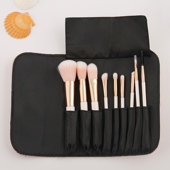 Cosmetic makeup brush factory sale 9pcs nice makeup brush set