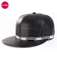 SEDEX CAP leather 6 panel snapback caps embroidery hip hop cap