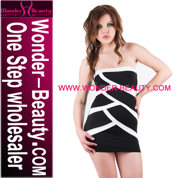 Wholesale Price Black Strapless Club Wear Dress Patterns