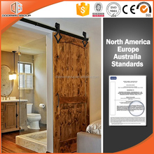 2017 New Design American Style Solid Oak/ Teak/ Pine Lifting Wood Sliding Barn Door