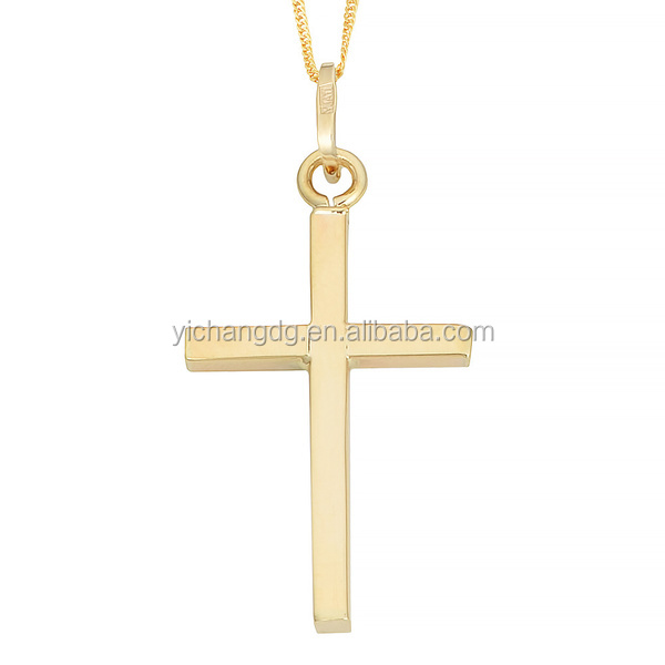 Fashion Design Jewelry 10k Yellow Gold Cross Pendant for Wholesale