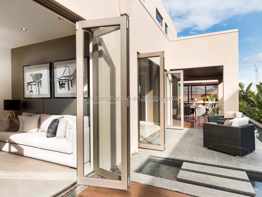 Australia standard as2047 balcony outdoor folding door for Folding exterior glass doors cost