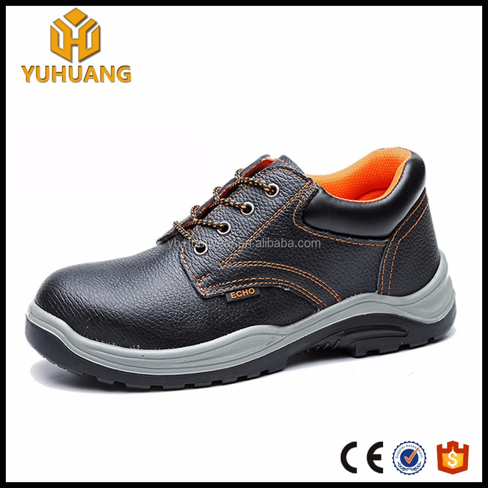 Hot sale buffalo leather Black Waterproof Construction safety shoes