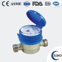 Factory Price Dry type single jet water meter, Water Meter Price