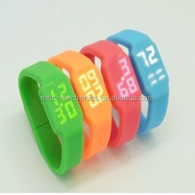 Led Watch OEM Bracelet usb Flash Drive Muti functional Custom Silicone Material Wristband usb