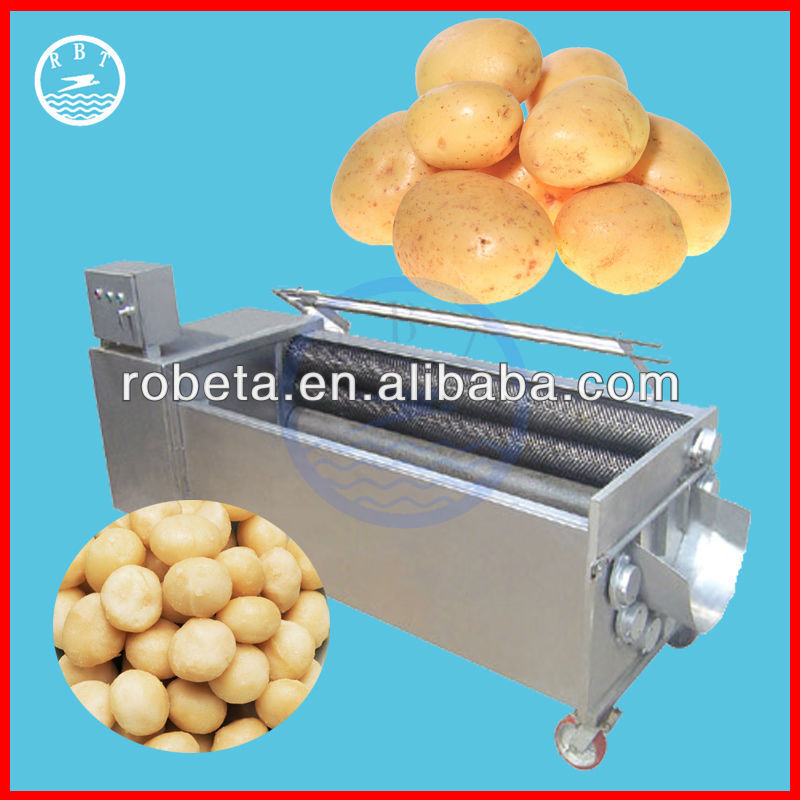 Stainless Steel Carrot / Potato peeling Machine /Vegetable Washing Machinr