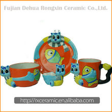 Hot Sale Top Quality Best Price Ceramic Cartoon liquidation dinnerware