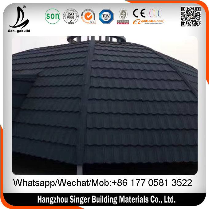 Hangzhou Factory Eaves Tiles Type Stone Coated Metal Color Roof Philippines Prices
