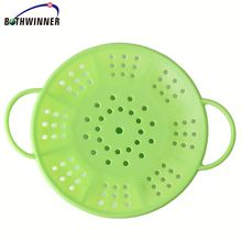 New age travel silicone steamer A03g7 food grade silicone fish steamer