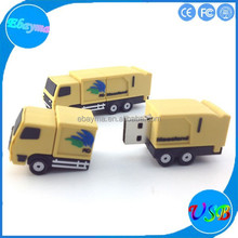 Custom blank usb stick truck shape pvc personalized shape usb flash memory