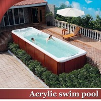 HS-S08B 8 meter long acylic sex massage swim pool with spa seat