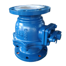 China manufacture cast steel PFA teflon lined ball valve
