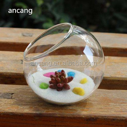 Transparent clear round ball shape glass material flower pot vases alibaba hot products