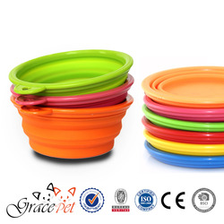 Pet Feeding Accessories/ Collapsible dog bowl