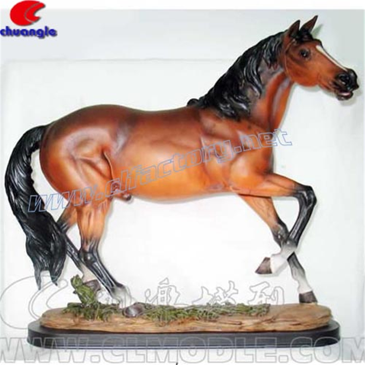 Indoor Table Decoration Collection Items Antique Finished Resin Horse Statue Sculptures