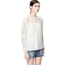 Cotton Embroidered Peasant Ruffle Women Tops from Top Matching Supplier