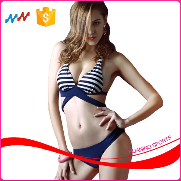 Ladies Cartoon Sexy Secret Crotchless Bikinis with Non-movable Bra