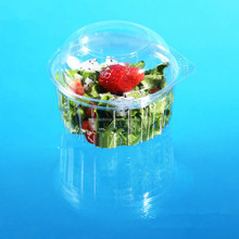 Wholesale New Premium Disposable Plastic Salad Packing Bowl with Hinged lid