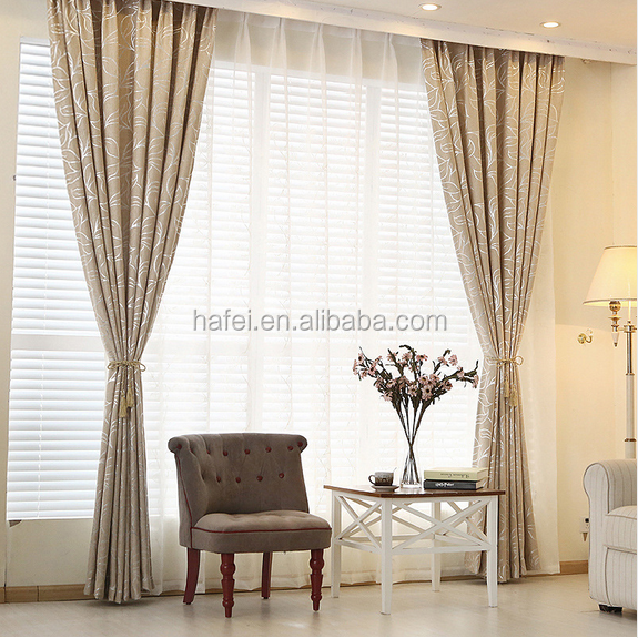 Hot sale chenille jacquard hotel blackout curtain blinds