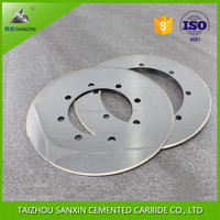 Gangxin ISO for sale K20, K40 tungsten carbide slitter knives / cutting disc / cutting blade for slitter to cut corrugated paper