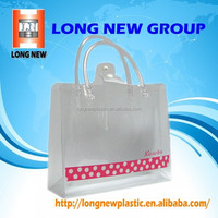E High quality customized plastic pvc shopping packing bag