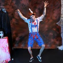 Carnival Party Sexy Men Cosplay Horror Blood Zombie Men Halloween Costume