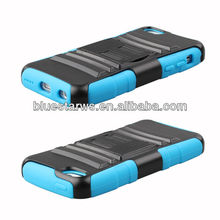 Hybrid Faceplate Hard Plastic Protector Snap On Skin Cover Case With Stand For iPhone 5C