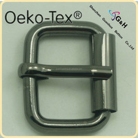 gun metal color simple metal zinc alloy buckle for handbags