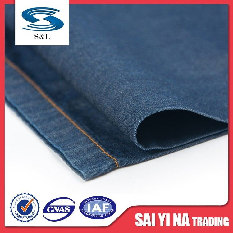 Professional Factory Cheap Wholesale fashionable jean fabric recycled denim fabric for 2016