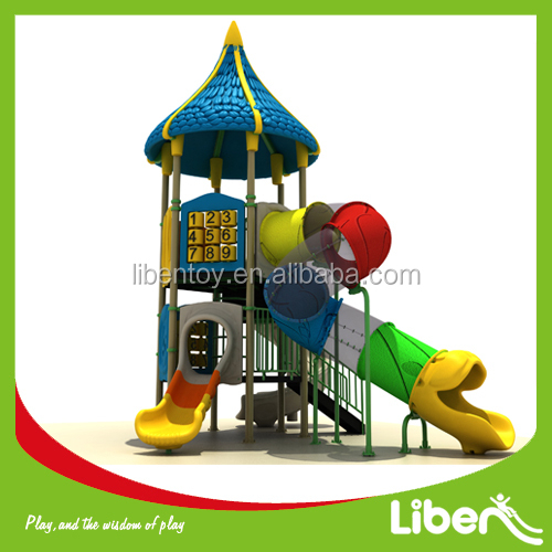 hot sale play structure plastic playground outdoor slide kindergarten used commercial outside playground equipment