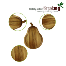 High quality Christmas acacia round wooden tray for fruit and fancy