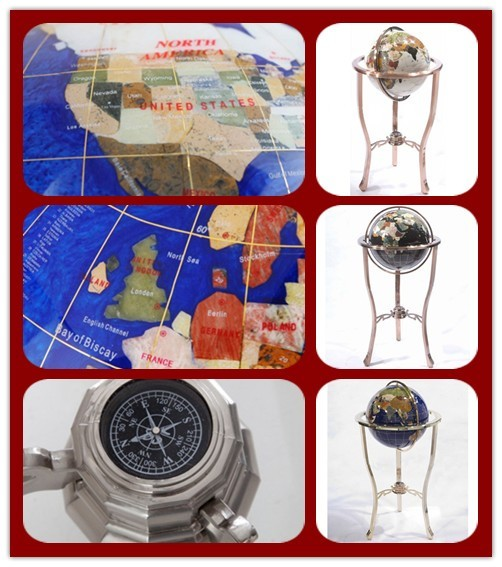 330mm Floor Standing Rotating Globo de Gemstone SE71113