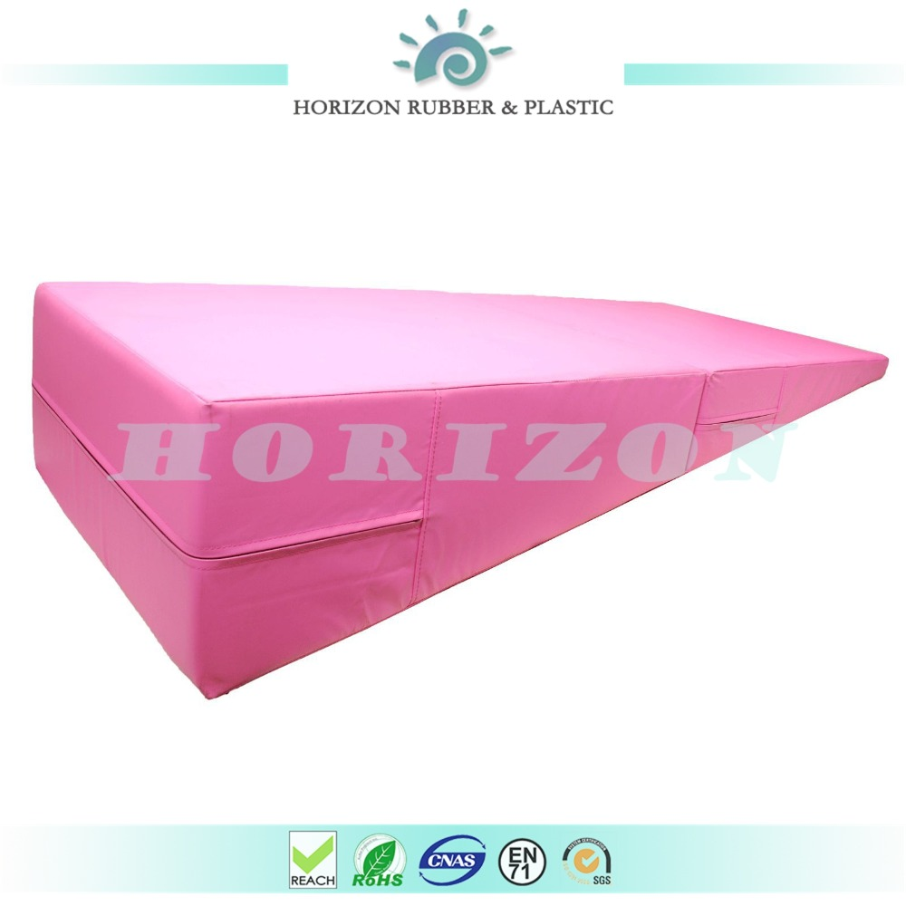 pink thick folding panel gymnastic exercise yoga mat