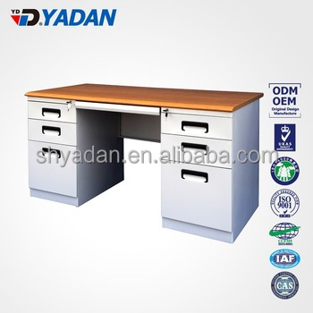 desk office used desk with wooden top