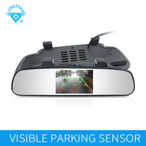 3.5 Inch Rear Mirror Monitor Parking Sensor with rear view car camera of true voice and beeper